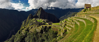 Incan citadel set high in the Andes Mountains