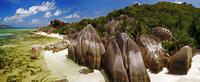 beach and granite rocks