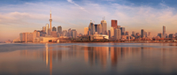 city, sunrise