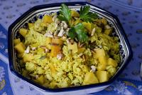 Sweet spiced basmati rice with mango and coriander