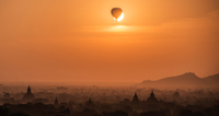 Balloon Eclipse ミャンマーの夕暮れ