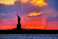 Liberty Sunset 自由の女神と夕暮れ