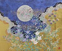 月と秋草 20084000012| 写真素材・ストックフォト・画像・イラスト素材|アマナイメージズ