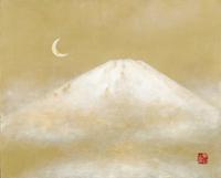 三日月と富士 20084000018| 写真素材・ストックフォト・画像・イラスト素材|アマナイメージズ