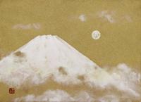 満月と富士 20084000020| 写真素材・ストックフォト・画像・イラスト素材|アマナイメージズ