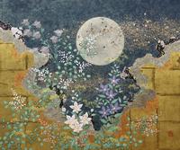 月と秋草 20084000028| 写真素材・ストックフォト・画像・イラスト素材|アマナイメージズ
