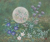 月と秋草 20084000030| 写真素材・ストックフォト・画像・イラスト素材|アマナイメージズ