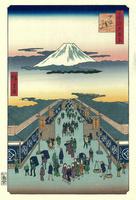 名所江戸百景 駿河町 20086000064| 写真素材・ストックフォト・画像・イラスト素材|アマナイメージズ
