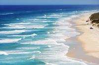 Seventy Five Mile Beach, Great Sandy National Park, Fraser Island, World Heritage Area, Queensland, Australia 20088000298| 写真素材・ストックフォト・画像・イラスト素材|アマナイメージズ