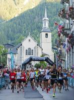 Europe, France, Haute Savoie, Rhone Alps, Chamonix, Chamonix trail running marathon 20088031884  写真素材・ストックフォト・画像・イラスト素材 アマナイメージズ