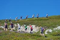 Europe, France, Haute Savoie, Rhone Alps, Chamonix, Chamonix trail running marathon 20088031889  写真素材・ストックフォト・画像・イラスト素材 アマナイメージズ