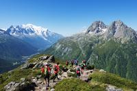 Europe, France, Haute Savoie, Rhone Alps, Chamonix, Chamonix trail running marathon 20088031890  写真素材・ストックフォト・画像・イラスト素材 アマナイメージズ