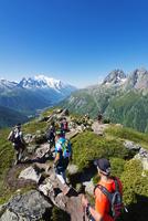 Europe, France, Haute Savoie, Rhone Alps, Chamonix, Chamonix trail running marathon 20088031891  写真素材・ストックフォト・画像・イラスト素材 アマナイメージズ