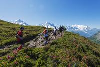 Europe, France, Haute Savoie, Rhone Alps, Chamonix, Chamonix trail running marathon 20088031892  写真素材・ストックフォト・画像・イラスト素材 アマナイメージズ