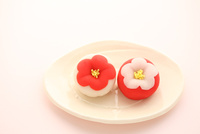 新春の和菓子 21002003522| 写真素材・ストックフォト・画像・イラスト素材|アマナイメージズ
