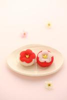 梅の和菓子 21002003745| 写真素材・ストックフォト・画像・イラスト素材|アマナイメージズ