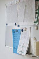 ボードに付けられた紙