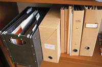 本棚にファイルされた資料