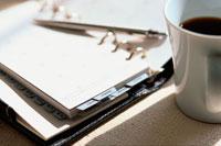 システム手帳とコーヒー