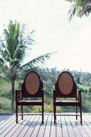 バルコニーの椅子