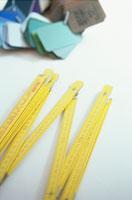 折り畳み定規とカラーチャート