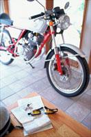 地図とオートバイ