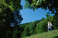 ジョギングをする外国人カップル