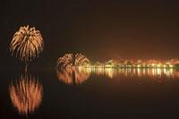 洞爺湖のロングラン花火