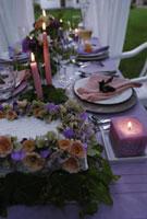 ウエディングのテーブルセット