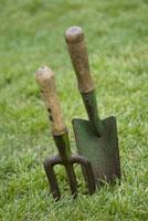 ガーデンフォークとスコップ 21090001377| 写真素材・ストックフォト・画像・イラスト素材|アマナイメージズ