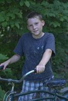 自転車と子供