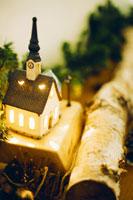 クリスマスイメージの置物 21101000084| 写真素材・ストックフォト・画像・イラスト素材|アマナイメージズ