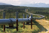 Trans Alaska Pipeline just south of Delta Junction. Alaska