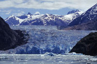 South Sawyer Glacier in Tracey Arm Fjord. Cruises leave from