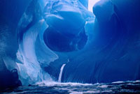 Sculptured rare Blue Iceberg,compressed & shaped by the se