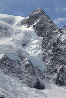 Icefall on a mountain in Drygalski Fjord. South Georgia. Sub 22001000233| 写真素材・ストックフォト・画像・イラスト素材|アマナイメージズ
