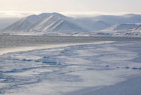 The floe edge in Tkachen Bay during the winter. Chukotskiy P
