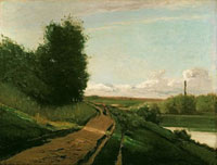 The Tow Path at Bougival,1864 /曳船道