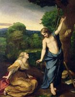 Noli Me Tangere,c.1534 /ノリ・メ・タンゲレ(我に触れるな) 22040004267| 写真素材・ストックフォト・画像・イラスト素材|アマナイメージズ