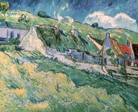 Cottages at Auvers-sur-Oise, 1890 by Gogh, Vincent van