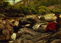 The Waterfall by Millais