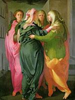 The Visitation,1528-30 /聖母のエリサベツ訪問 22040006603| 写真素材・ストックフォト・画像・イラスト素材|アマナイメージズ