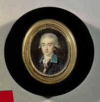 Portrait miniature of Count Hans Axel von Fersen (1755-1810) (oil on canvas)