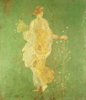Spring, maiden gathering flowers, from the villa of Varano i