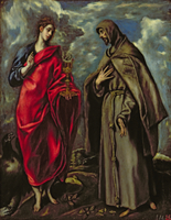 St. John the Evangelist and St. Francis, c.1600