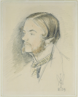 Portrait of Holman Hunt, 1854