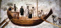 Unloading grain from the ship, Isis Giminiana, from Ostia, 2