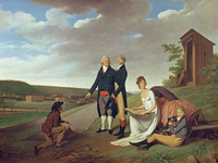 Christophe-Philippe Oberkampf and family in front of his factory at Jouy, 1803 (oil on canvas)