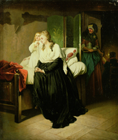 Marie Antoinette Departing to her Execution (one of pair)