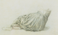 Study of drapery for 'The Garden Court', 1889